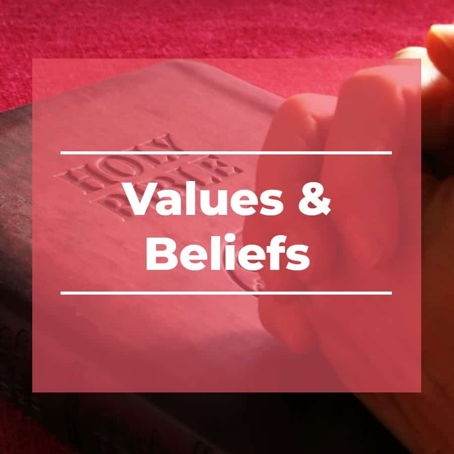 values beliefs